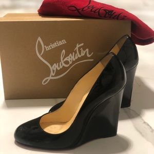 Louboutin Patent Wedge. 100% authentic.